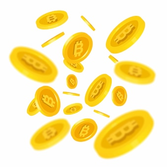 Bitcoins falling illustration