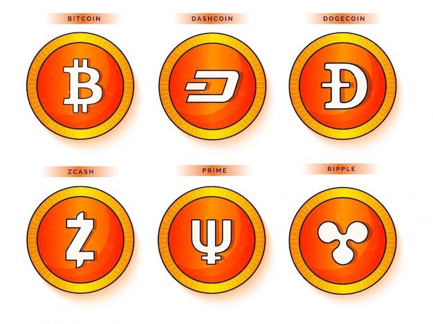 Bitcoins planos em fundo cinza