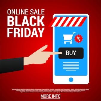 Black friday banner de compras on-line