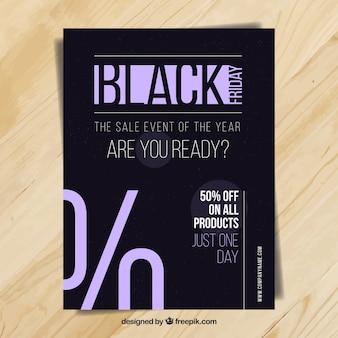 Black friday brochura elegante