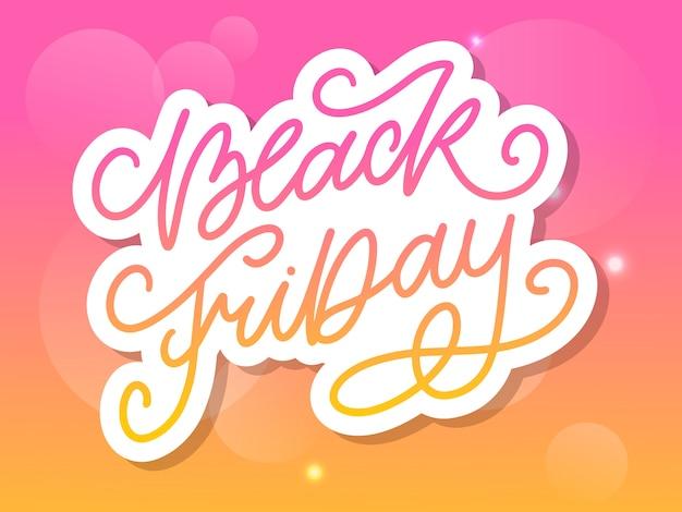 Black friday calligraphic designs estilo retro