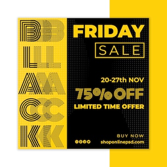 Black friday flyer quadrado