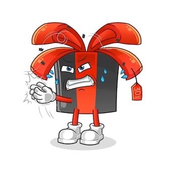 Black friday golpeia o personagem da mosca. mascote dos desenhos animados