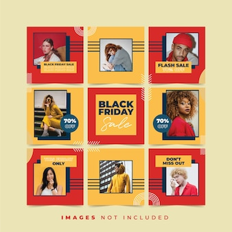 Black friday instagram puzzle post coleções