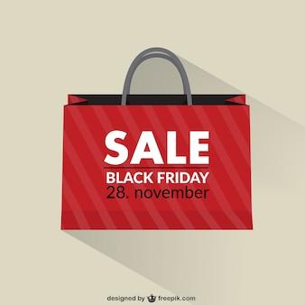 Black friday sacola de compras vendas