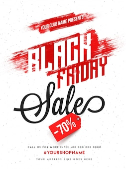Black friday sale, banner ou flyer design com oferta de desconto.