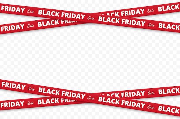 Black friday sale black friday fitas ilustração vetorial isolada
