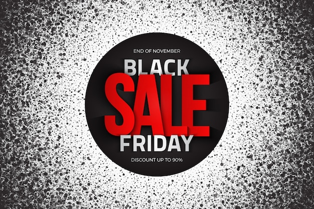 Black friday sale moderno grunge abstrato com tipografia 3d