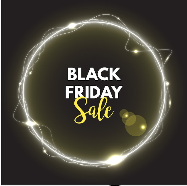 Black friday sale neon