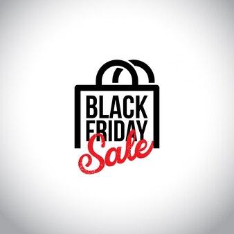 Black friday sale. nova tipografia criativa com bolsas shopiing em fundo branco.