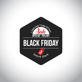 Black friday sale. nova tipografia criativa em fundo branco. 60% a 70% de desconto