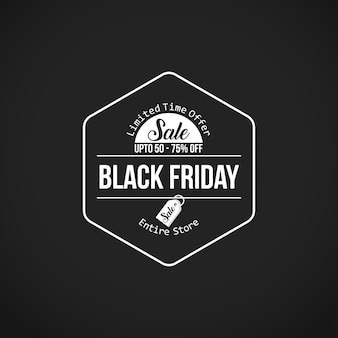 Black friday sale. nova tipografia criativa em fundo preto. 60% a 70% de desconto.