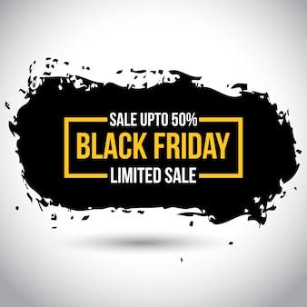 Black friday sale. nova tipografia simples em cor amarela no fundo branco. 50% de desconto