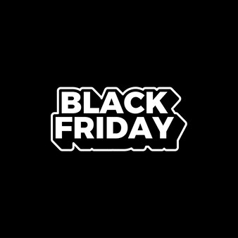 Black friday sale template text