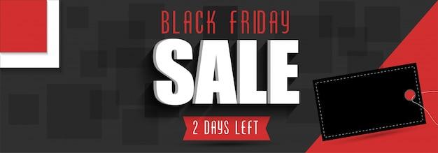 Black friday sale web banner design em cores cinza e vermelha.