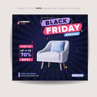 Black friday social media post design ou website product banner design ou web advertising design