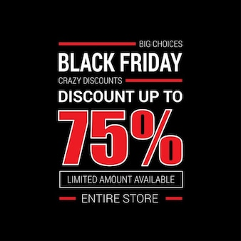 Black friday template poster 75 off
