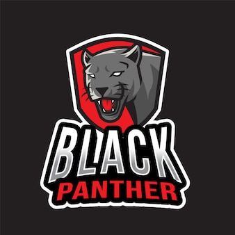 Black panther esport logotipo
