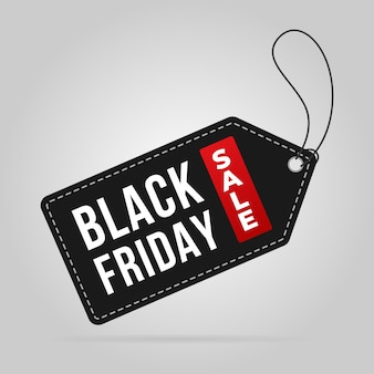 Black sexta-feira venda tag etiqueta preço venda banner