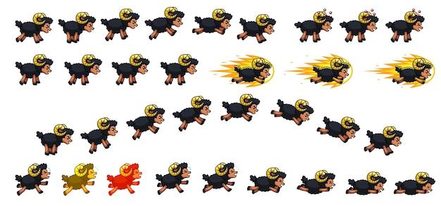 Black sheep game sprites