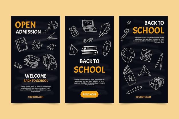 Blackboard back to school histórias do instagram