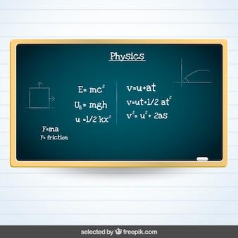 Blackboard com a física assunto