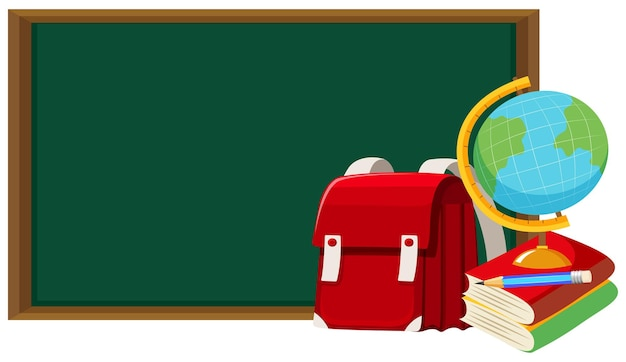 Blackboard e outros objetos escolares