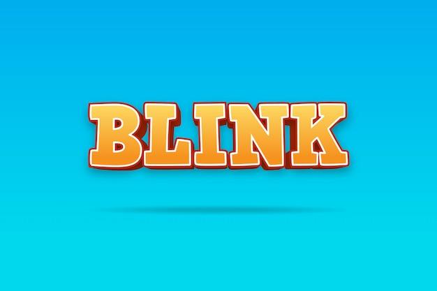 Blink - efeito de texto 3d laranja