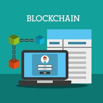 Blockchain carteira senha contrato internet