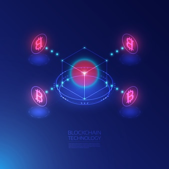 Blockchain isométrico