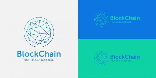Bloco cadeia logotipo tecnologia conexão internet comunicação