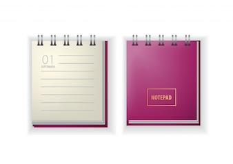 Bloco de anotações. Calendário, setembro, o primeiro, de volta à escola.
