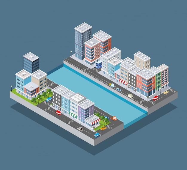 Bloco de cidade isométrico