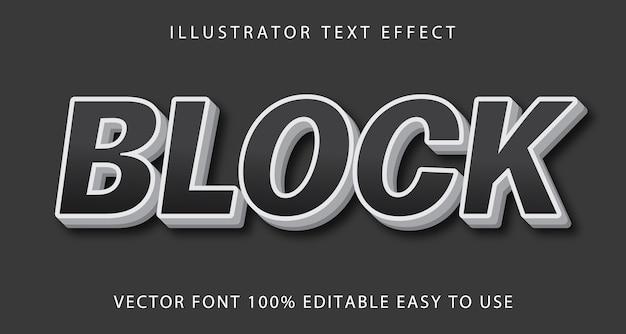 Bloco de efeito de texto editável