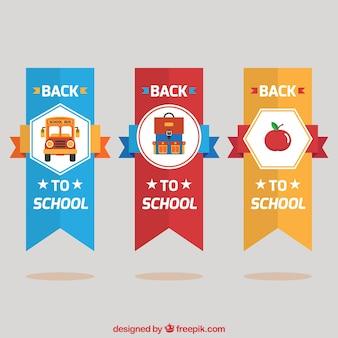 Bloco de etiqueta de volta à escola