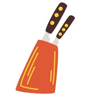 Bloco de faca. utensílios de cozinha. porta-faca de madeira. cozinha definir ferramentas do chef.