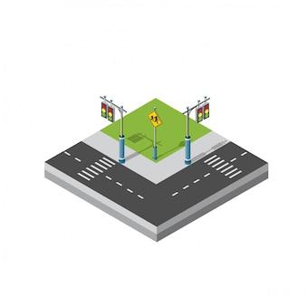 Bloco de módulo 3d isométrico