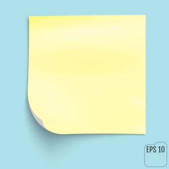 Bloco de notas amarelo
