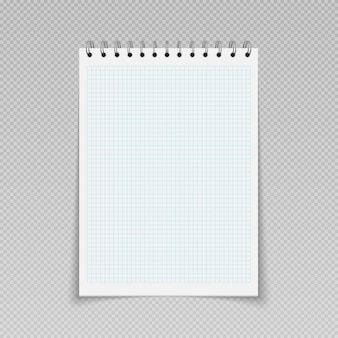 Bloco de notas bloco de notas modelo de planejador diário com espiral de pasta folha de caderno página em branco