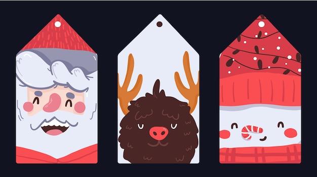 Bloco de notas de natal, nota, diário, padrão de cartões postais, adesivo bonito