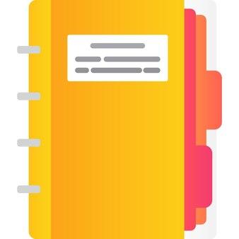 Bloco de notas de vetor de ícone de caderno de papel em branco