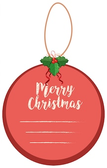 Bloco de notas do feliz natal em forma redonda