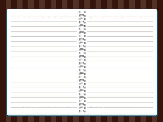 Bloco de notas e folhas de papel isoladas