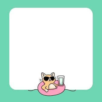 Bloco de notas gato verão praia para fazer a lista