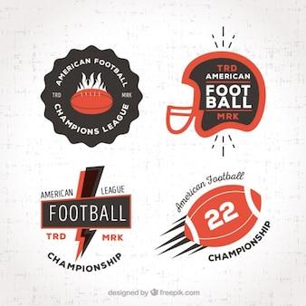 Bloco de quatro futebol americano adesivos