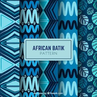 Bloco de quatro padrões batik africano
