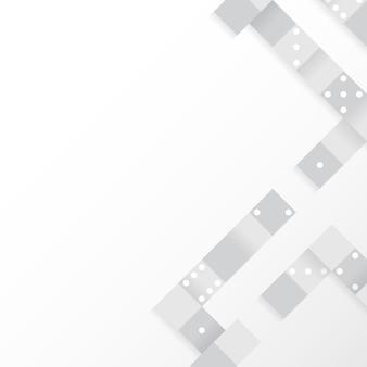 Blocos cinza no vetor de fundo branco em branco