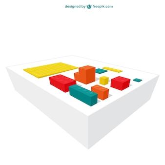 Blocos de lego coloridos