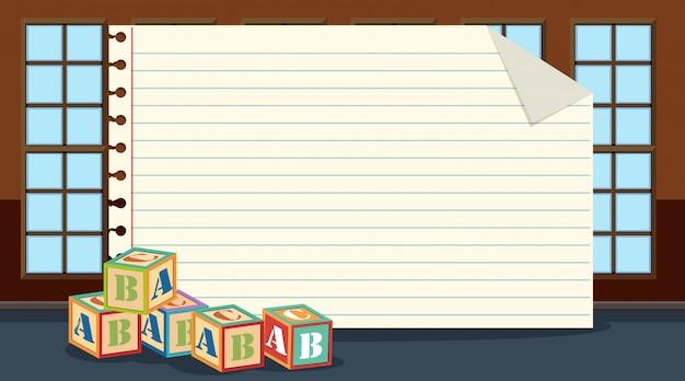 Blocos de papel alfabeto