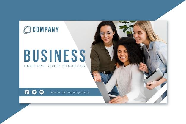 Blog de banner de negócios